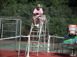 Le rôle de l'arbitre de chaise au tennis